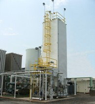 A UCG on-site nitrogen plant operating in North Carolina, supplying a large specialty chemicals company